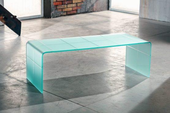 Il vetro curvato per il tavolino da salotto di Imago Factory Audrey il ritratto