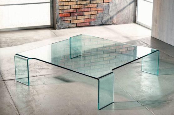 Il vetro curvato per il tavolino da salotto di Imago Factory Burlesque il ritratto