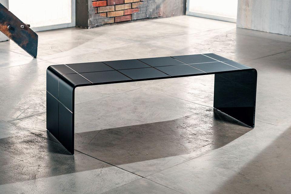 Tavolino Per Salotto Vetro.Liz
