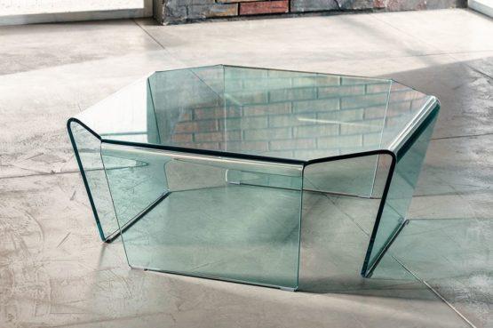 Il vetro curvato per il tavolino da salotto di Imago Factory Solitaire il ritratto