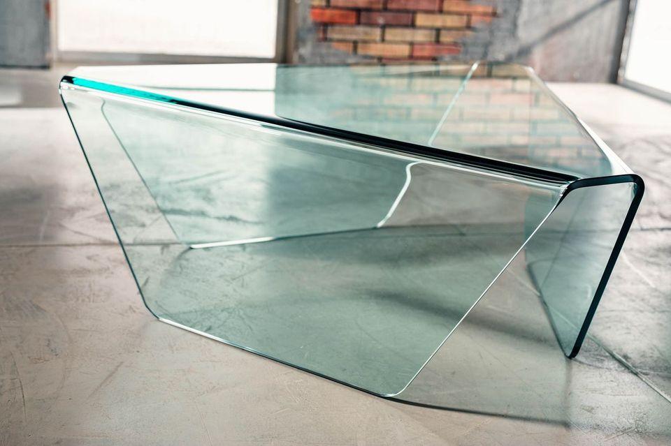 Tribeca imago factory tavolino in vetro curvato h cm