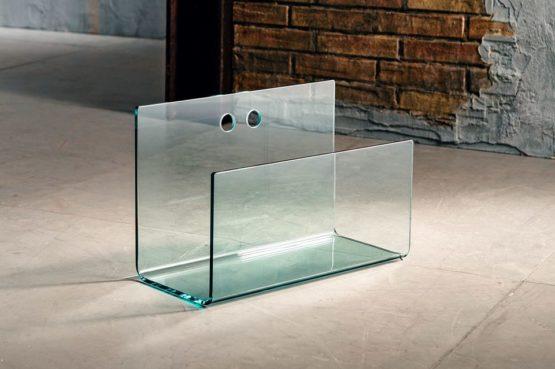 Il vetro curvato per il porta riviste di Imago Factory Quid: il ritratto
