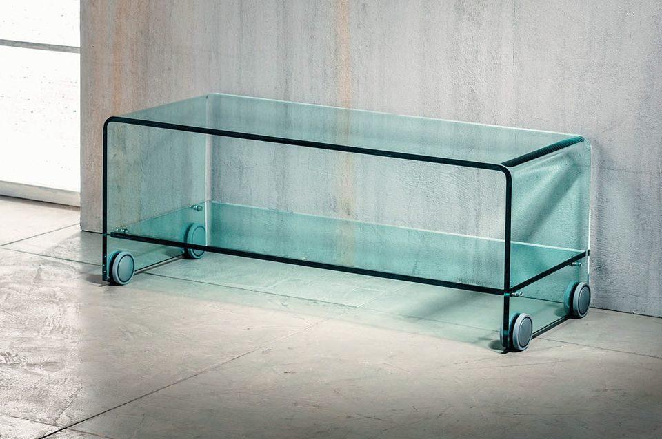 Tavolini In Vetro Porta Tv : Imago factory flix tavolino porta tv in vetro curvato ebay