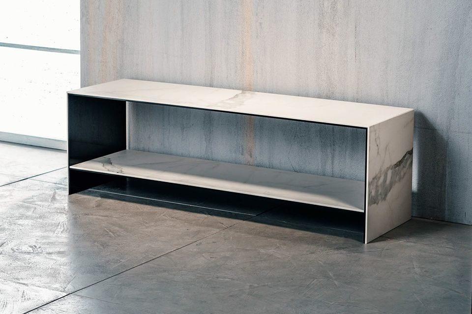 Tavolini In Vetro Porta Tv : Imago factory luxor tavolino porta tv in ceramica e vetro ebay