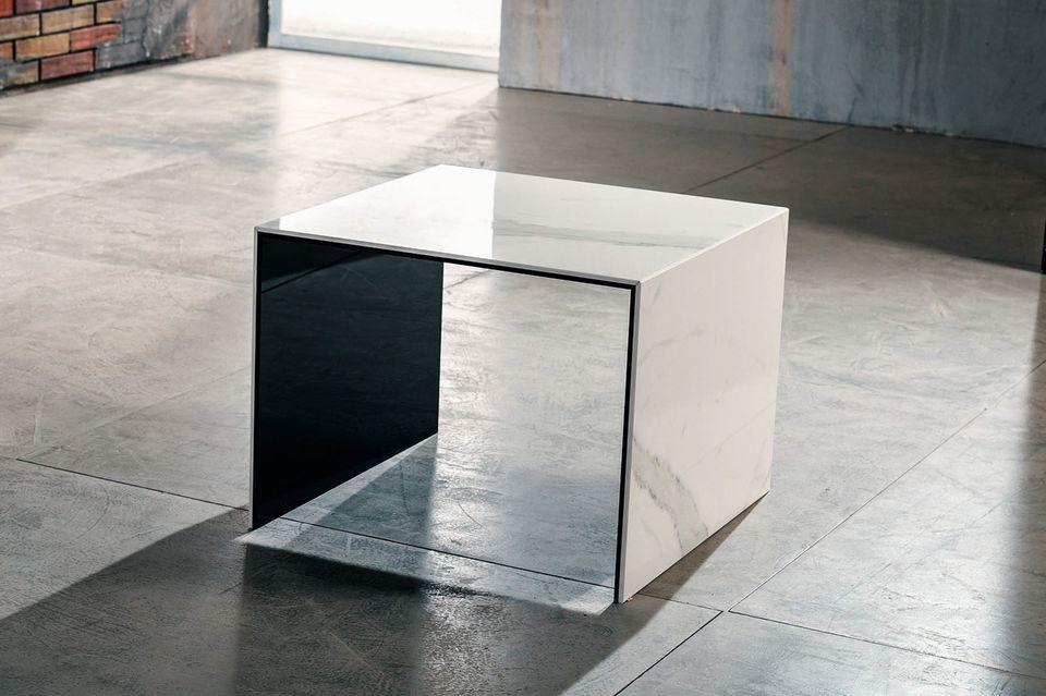Tavolino Da Salotto In Marmo.Allegro Imago Factory Tavolino In Ceramica Laminata 50x50 H38cm